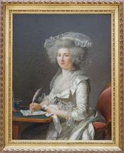 """Adélaïde Labille-Guiard, """"Portrait de femme"""", 1787. Je suis fascinée par la représentation des étoffes dans ce tableau."""