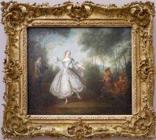 """Nicolas Lancret, """"La Camargo dansant"""", 1730. Un tableau qu'on voit et re-voit partout mais sur lequel je n'avais encore jamais mis de nom."""