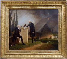 """Jacques Sablet, """"Élégie romaine"""", 1791. Une peinture qui me parle un peu plus et en même temps, on est à la fin du siècle et on se rapproche du romantisme !"""