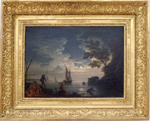 """Claude-Joseph Vernet, """"Marine, clair de lune"""", 1772. Mon tableau préféré de la collection. Vernet semble avoir tout compris à la lumière de la nuit..."""