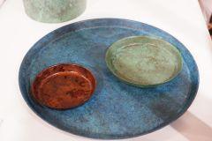 Plats en cuivre et en laiton du département de Toyama, magnifiques.