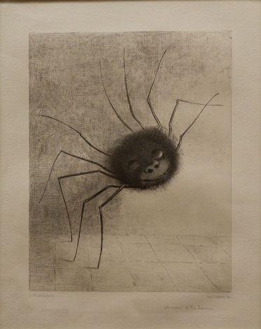 """Odilon Redon, """"Araignée"""", 1887."""