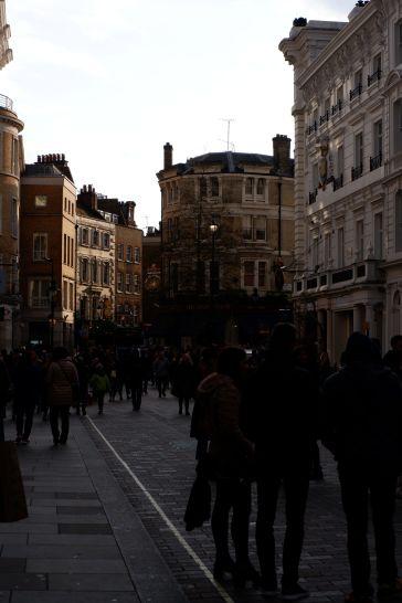 La tombée du jour à Covent Garden