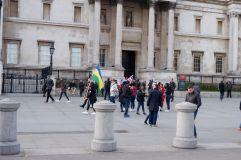 La première des nombreuses manifestations que nous croiserons tout au long de notre séjour londonien.