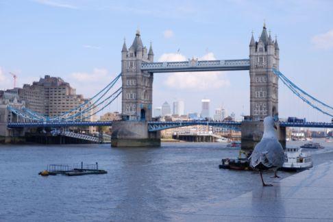 Prendre en photo le Tower Bridge tout seul, c'est un peu cliché...