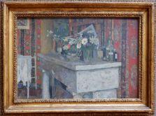 """Edouard Vuillard, """"La Cheminée"""", 1905. J'aime tellement la décoration d'intérieur dans les tableaux impressionnistes..."""