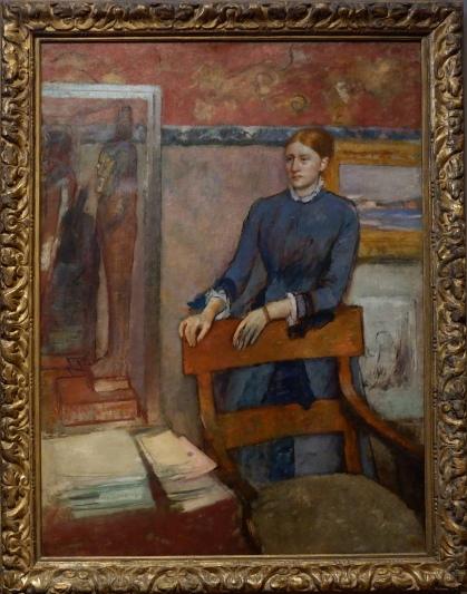 """Edgar Degas, """"Hélène Rouart dans le bureau de son père"""", 1886. Elle a une expression sûre d'elle et avide de connaissance qui me parle beaucoup. Je me suis même un peu réconciliée avec Edgar Degas."""