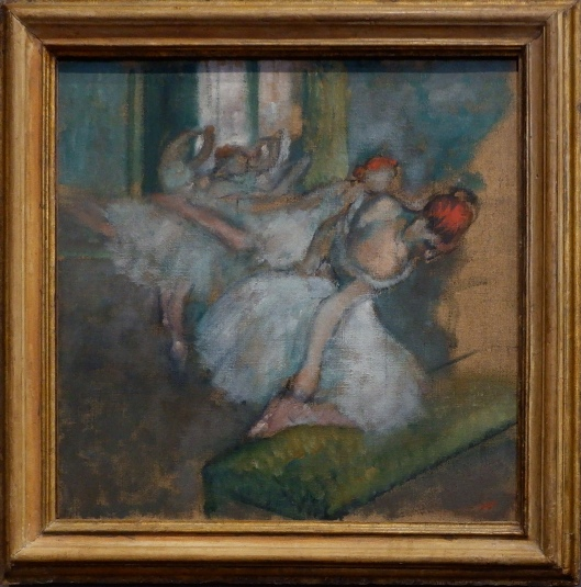 """Edgar Degas, """"Ballerines"""", 1890-1900. Honnêtement, depuis le cours sur le modernisme européen que j'ai pris l'an dernier à Scripps College, je ne vois pas plus Edgar Degas de la même manière et chaque tableau de ballerine m'envoie un frisson dans le dos."""