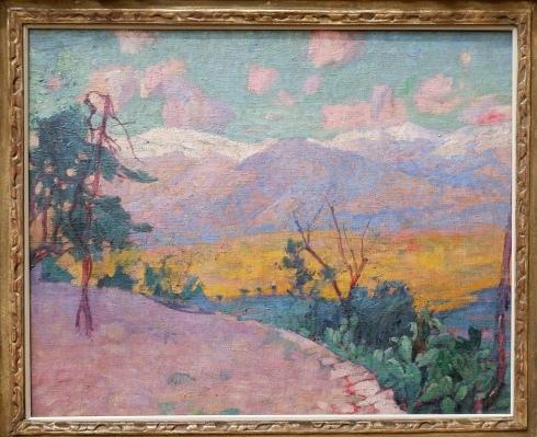 """John Russell, """"Les Terrasses de Monte Cassino"""", 1889. Un paysage tout doux et qui fait appel à mon imaginaire sur le Japon."""