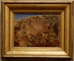 """Arnold Böcklin, """"Une falaise"""", 1850. J'aime beaucoup le choix du sujet, simple et complexe à la fois."""