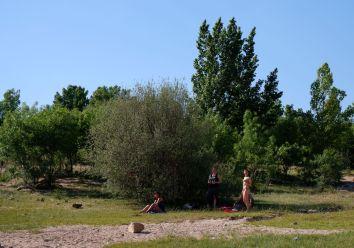 Quand on étouffe à Madrid ET à Nantes, Navacerrada bénéficie d'un peu d'air frais grâce au vent. Le bonheur.
