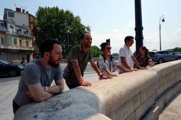 L'équipe de choc : Mario, Johann, Julie, Mika et Justine.