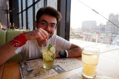 Petite pause rafraîchissante avec des limonades.