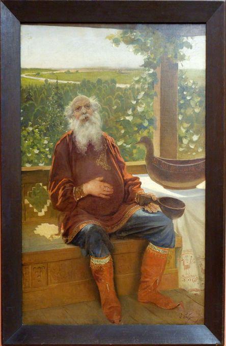 """Andrey Ryabushkin, """"What a brew!"""", 1892. La légende est sans équivoque !"""