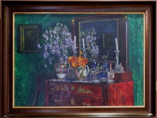 """Stanislav Zhukhovsky, """"Nasturtiums"""", 1915. J'aime beaucoup la décoration intérieure : on ne met plus autant de couleurs aujoud'hui."""