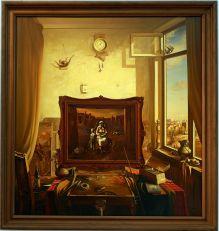 """Georgy Skripnichenko, """"Today is a holiday"""", 1985. Encore un tableau offrant un monde lumineux dans lequel on voudrait plonger."""
