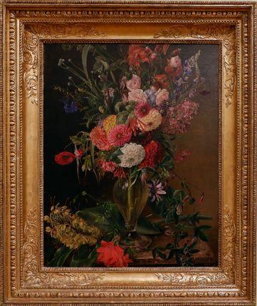 """Julie Wilhelmine Hagen-Schwarz, """"Flowers in a vase"""", 1845."""