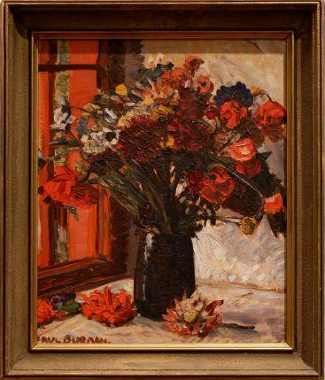 "Paul Burman, ""Red flowers"", 1924."