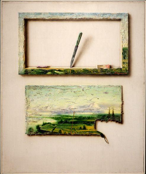 """Ando Keskküla, """"Landscape with a knife"""", 1982. On aurait presque envie d'y toucher."""