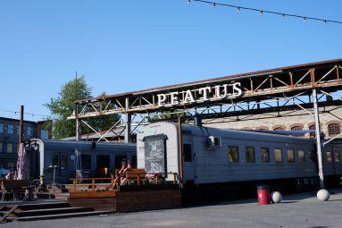 Des wagons réaménagés en restaurants.