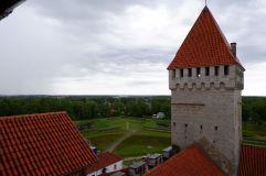 Vue depuis le café située dans une des tours du château.