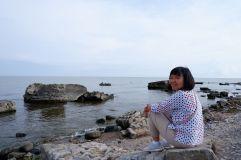 Petite pause ou pose au bord de l'eau.