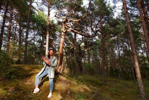 Andréa s'est trouvé une nouvelle vocation : garde forestier !