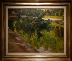 """Joaquín Sorolla, """"Fontaine de Neptune, La Granja"""", 1907. Un cadrage, tout ce qu'il y a de plus moderniste."""