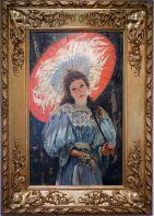 """José Mongrell Torrent, """"Elena Carabia y Espert, et son ombrelle"""", 1895. Ce tableau me rappelle un peu Camille Monet."""