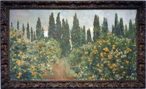 """Constantino Gomez Salvador, """"Cyprès et orangers"""", 1905. Les orangers, toujours."""