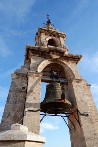 Nous étions en haut, quand la cloche a sonné dix-huit heures. Une expérience... vibrante.