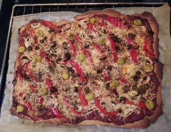 Restons dans le thème italien le soir avec une pizza maison.