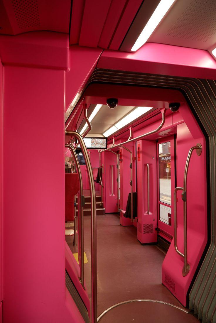 tram rose à genève