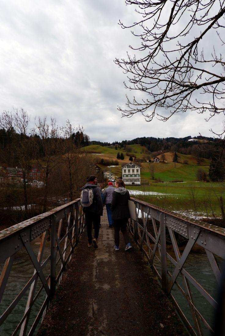 sur un pont à Ebnat-Kappel