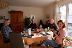 Une raclette avec Christian, Ruedi et Béatrice