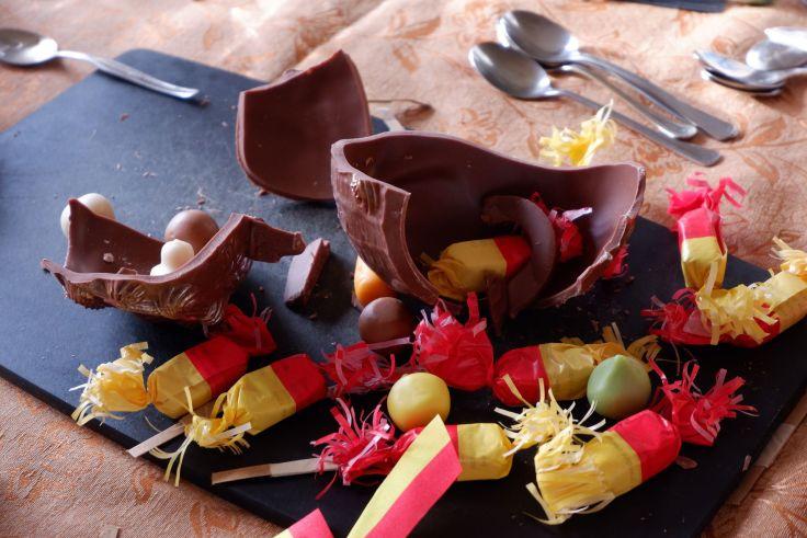 une marmite en chocolat