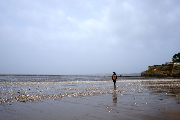 Justine sur la plage