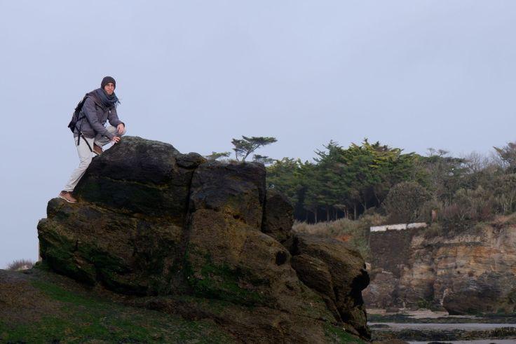 Ryan sur un rocher
