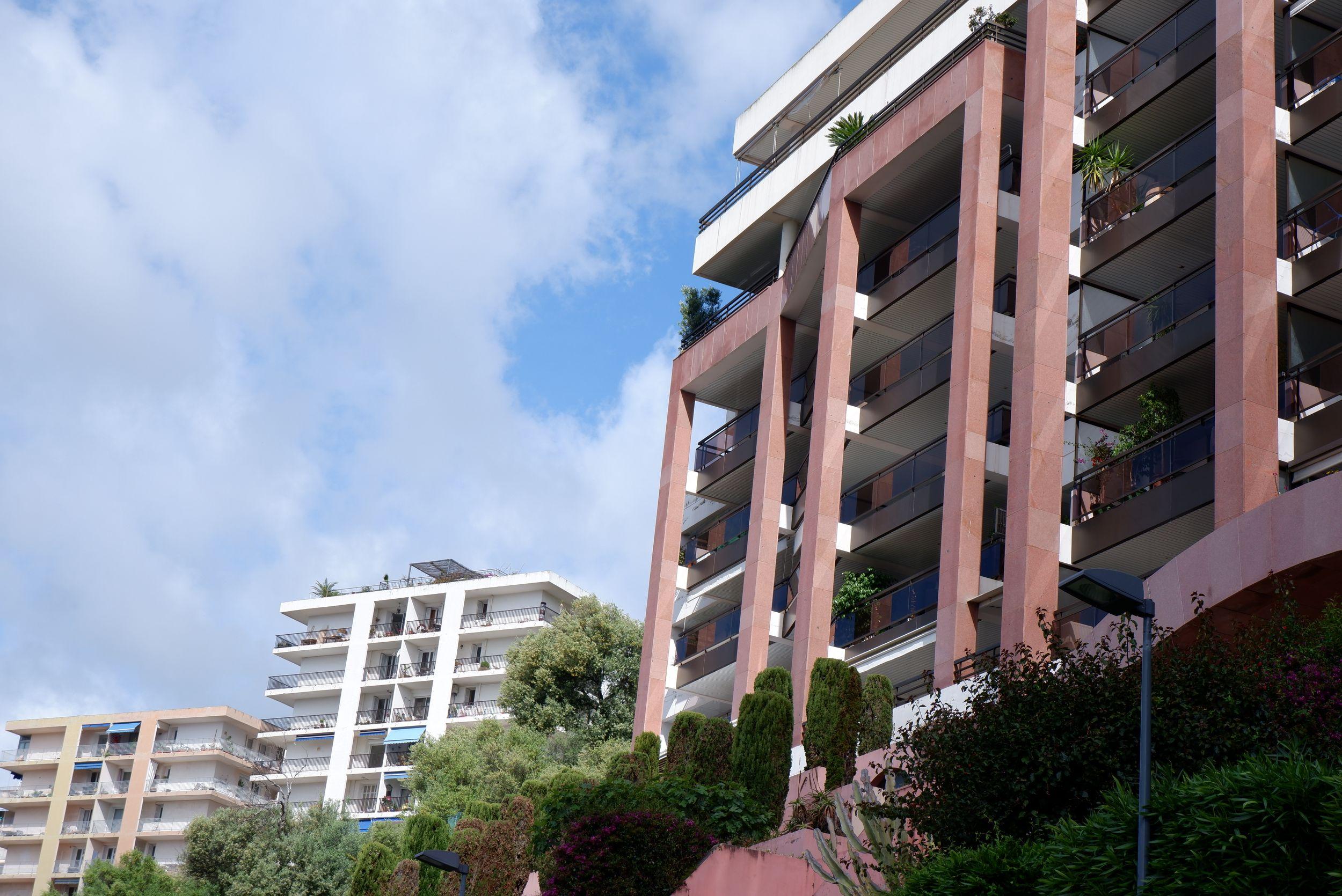 Immeubles roses à Ajaccio