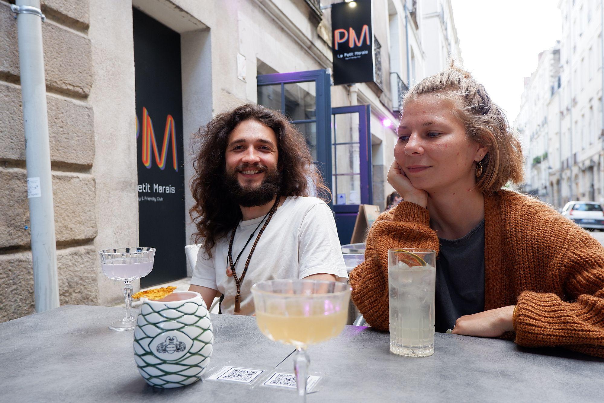 Au bootlegger, à Nantes, avec Justine et Guilhem