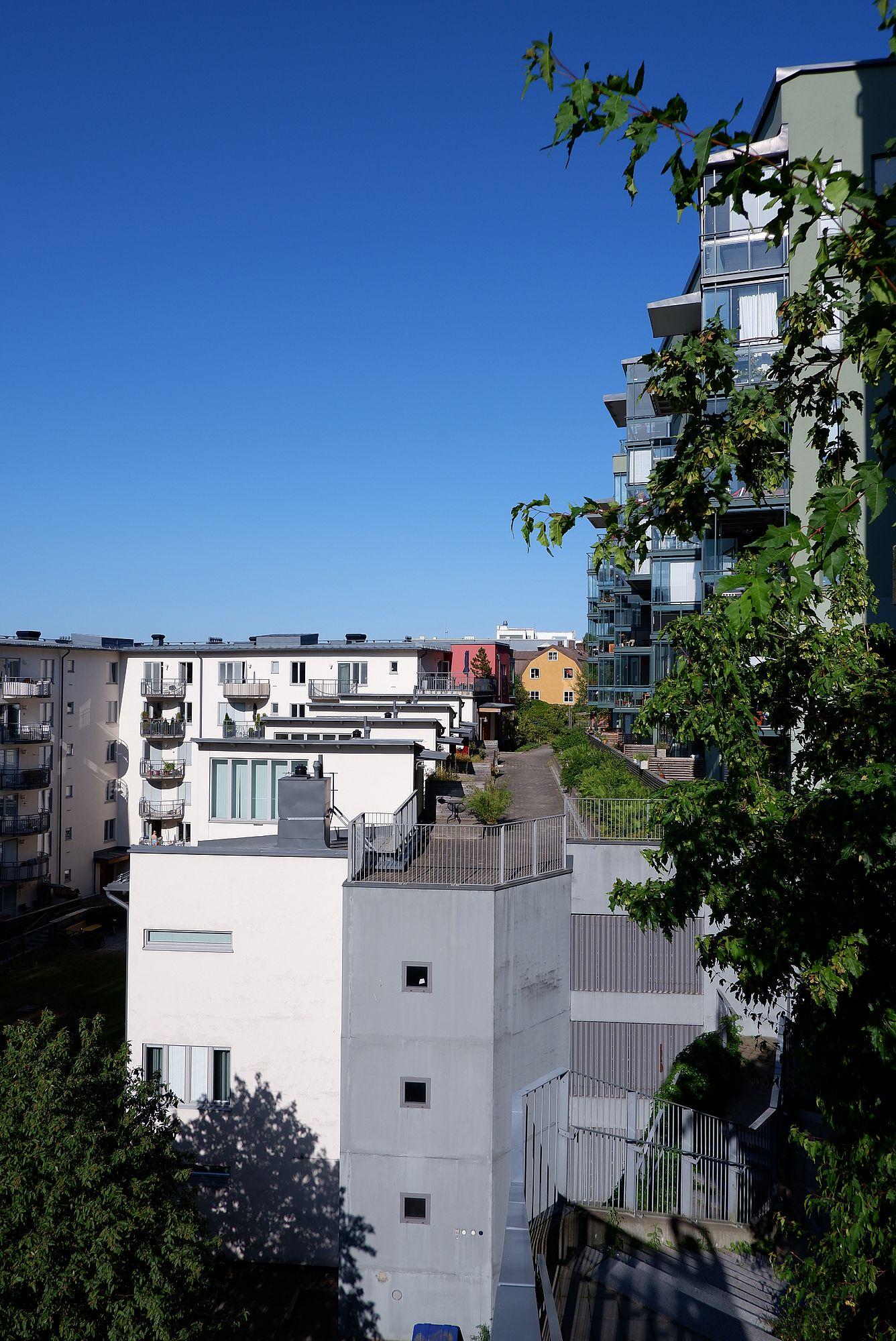 Des immeubles à Nacka, dans l'Est de Stockholm