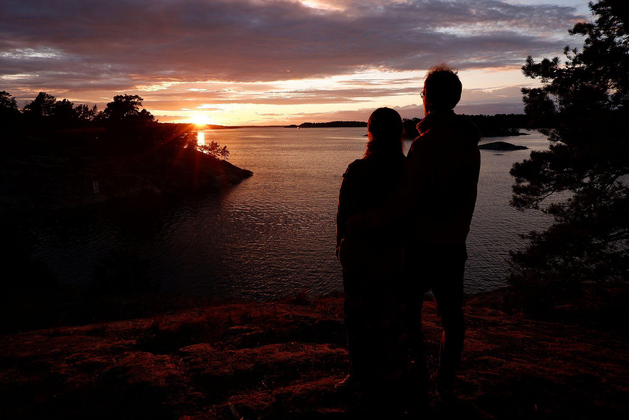 Ryan et moi devant le coucher de soleil
